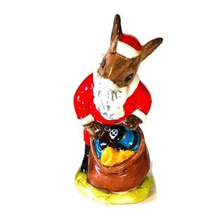 "Bunnykins Santa  Royal Doulton ""Happy Christmas"""